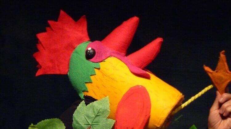 El gall de la companyia de titelles pengim-penjam titelles